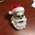 Skull Santa print image
