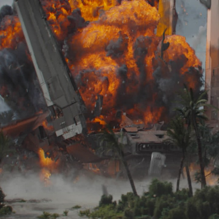 Rogue One Mining Tug Explosion