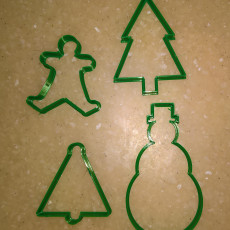 Picture of print of Christmas cookie cutters