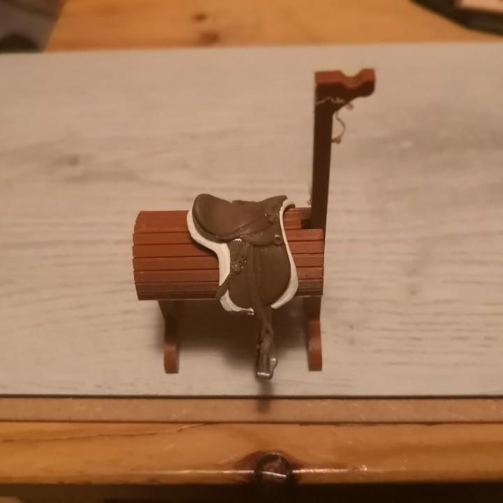 Saddleholder for Schleich toy horses