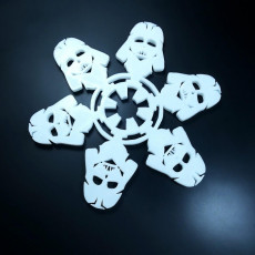 Picture of print of Star Wars Themed Christmas Snowflake Ornament