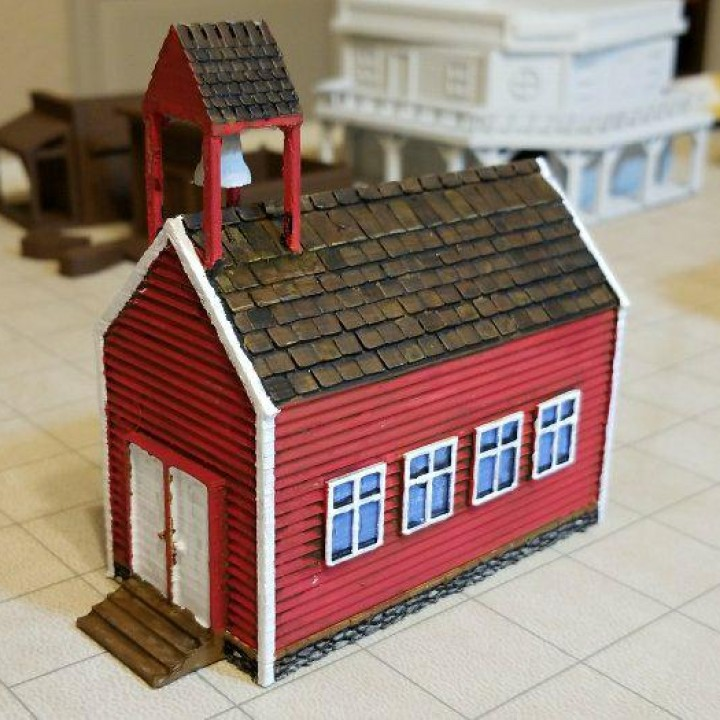 HO Scale Frontier Schoolhouse