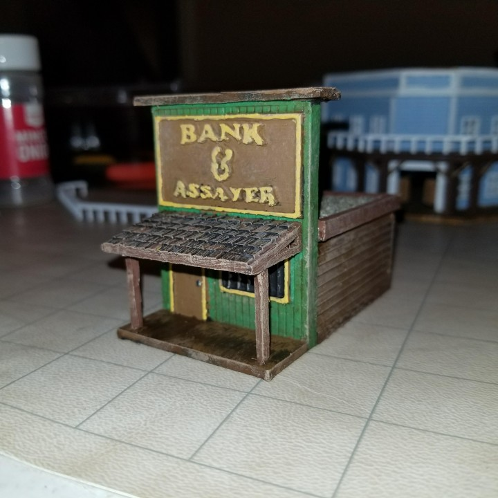 HO Scale Bank and Assayer Building