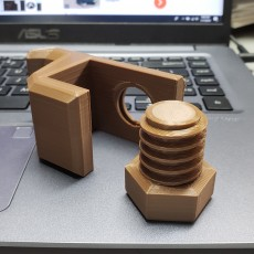 Picture of print of Headphone hook / SD card holder