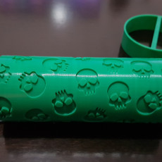 Picture of print of Skulls Embossed Roller Pattern