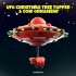UFO Christmas Tree Topper and Cow Ornament Set image