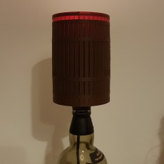 Barrel style lamp shade for up-cycled bottle lamps