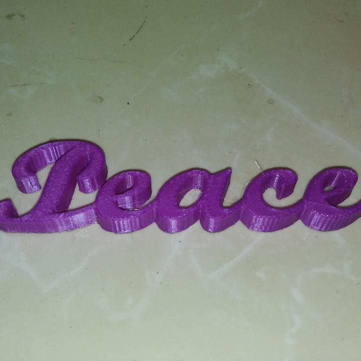 Peace Script Ornament