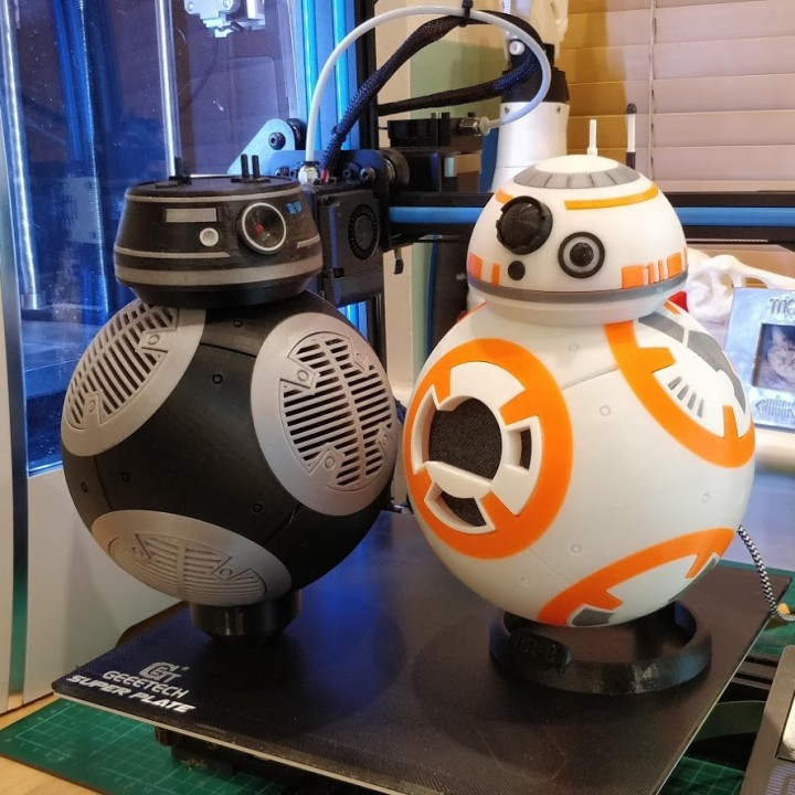 photo regarding Bb 8 Printable known as 3D Printable BB-8 Google Household Gown or BB8 Fashion by way of Steve Wagg