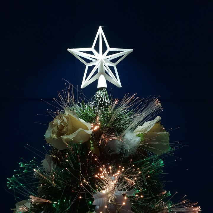 Christmas Tree Topper.Star Christmas Tree Topper
