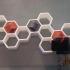 IPA3D Multi-llavero hexagonal amurable / IPA3D Multi- hexagon keychain with wall support image
