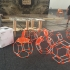 HEXAGONAL MODULAR SHELF / STRUCTURE FOR PRUSA RESEARCH MAKER FAIRE PRAGUE BOOTH image