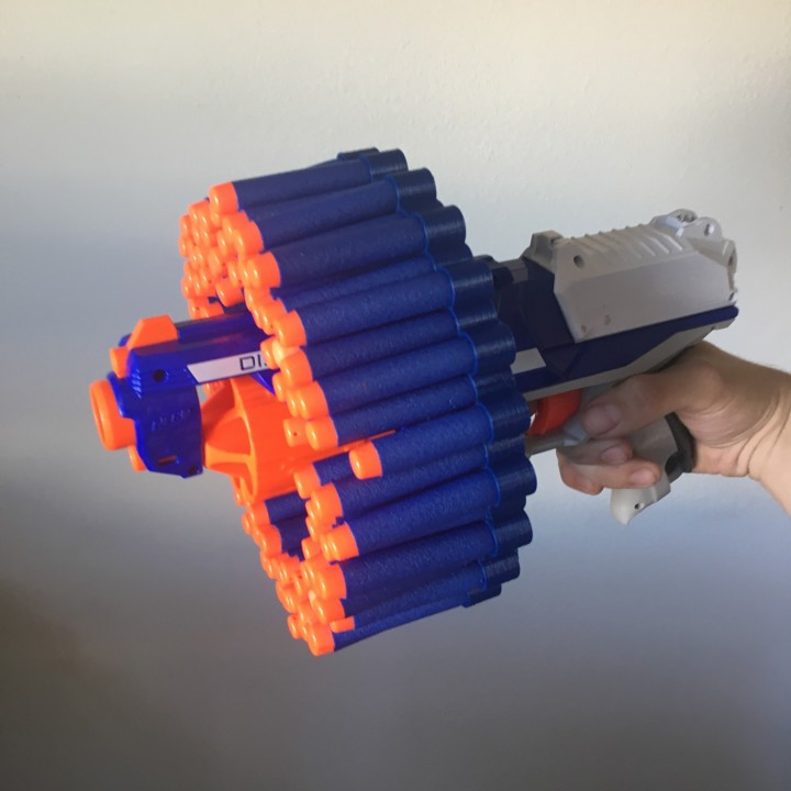 72 Nerf dart rail attachment
