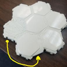 Picture of print of Hexagonal Tabletop RPG Terrain