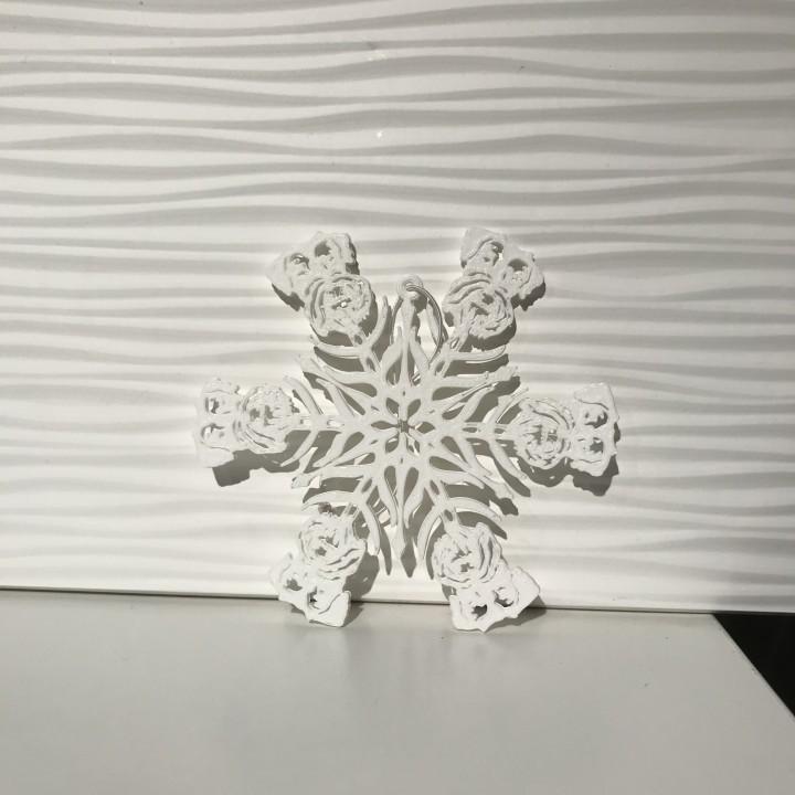 Schnauzer Dog Snowflake