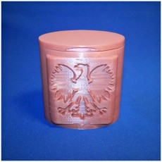 Picture of print of Poland Seal on Pill Bottle and Lid