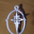 Bethlehem Star/Cross Ornament v2.0 image