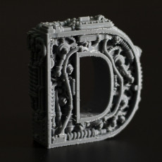 Picture of print of Steampunk letter D