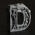 Steampunk letter D print image
