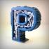 Steampunk letter P image