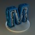 Steampunk letter M image