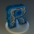 Steampunk letter R image