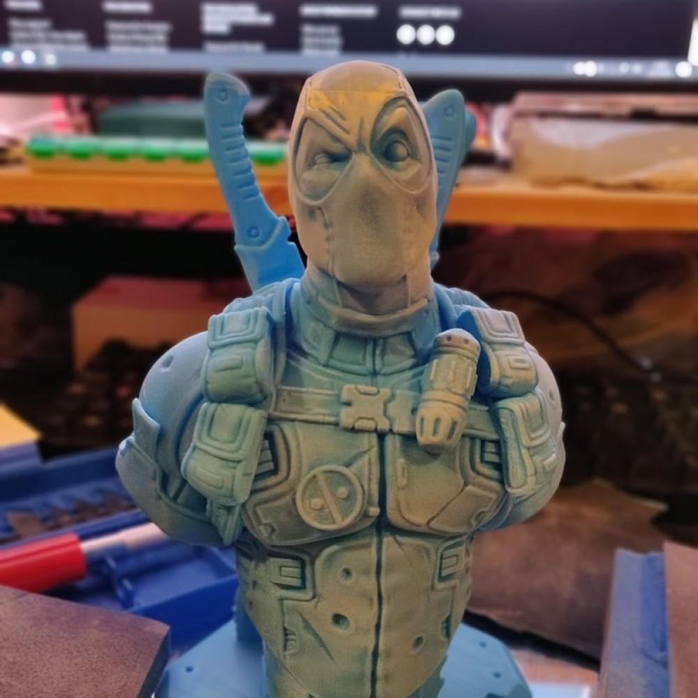 1000x1000 deadpool bust v2 printed