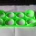 Egg tray in the refrigerator. image