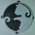 Yin Yang Cat Fridge Magnet & Ornament / IEC3D image