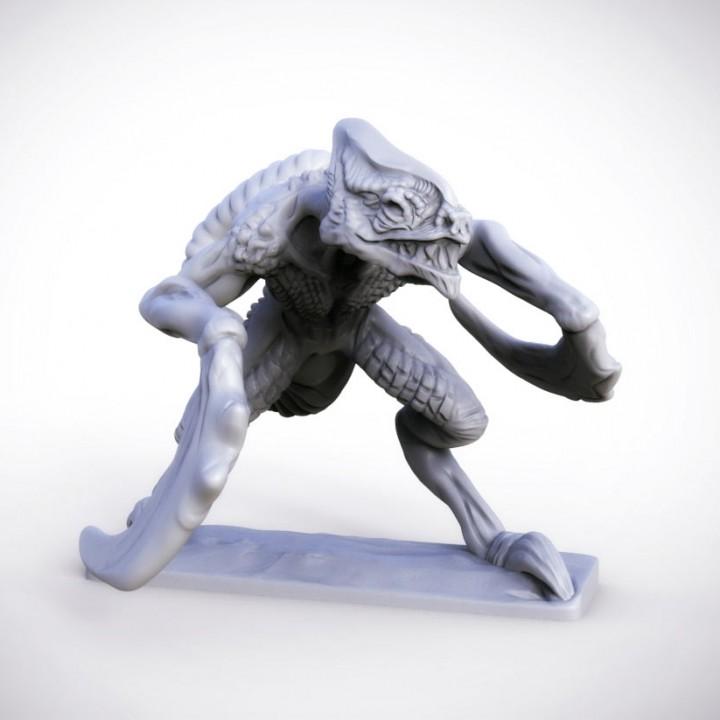 Bladed Raptor 32mm miniature (heroic 28mm)