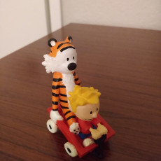 Picture of print of Calvin & Hobbes:  Wagon