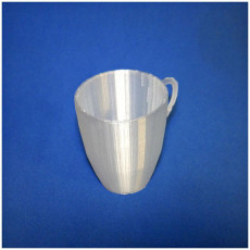 Picture of print of flower pot in the shape of a cup