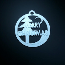 Picture of print of Christmas hanging ornament