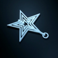 Picture of print of spinning star ornament