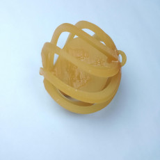 Picture of print of spinning nativity bulb ornament