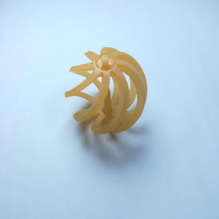 spinning nativity bulb ornament