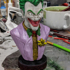 Picture of print of Joker bust 这个打印已上传 Ron Woodrich