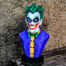 Picture of print of Joker bust 这个打印已上传 Marcelo Tessarin
