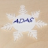 Snowflake ornament with name image