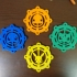 Pokemon Gen-1 Foldable/Spinable Ornament Set image