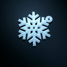 Picture of print of snowflake ornament