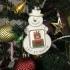 Christmas ornament snowman photo frame image