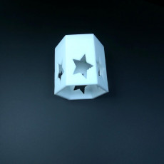 Picture of print of Star Pattern Candle Holder