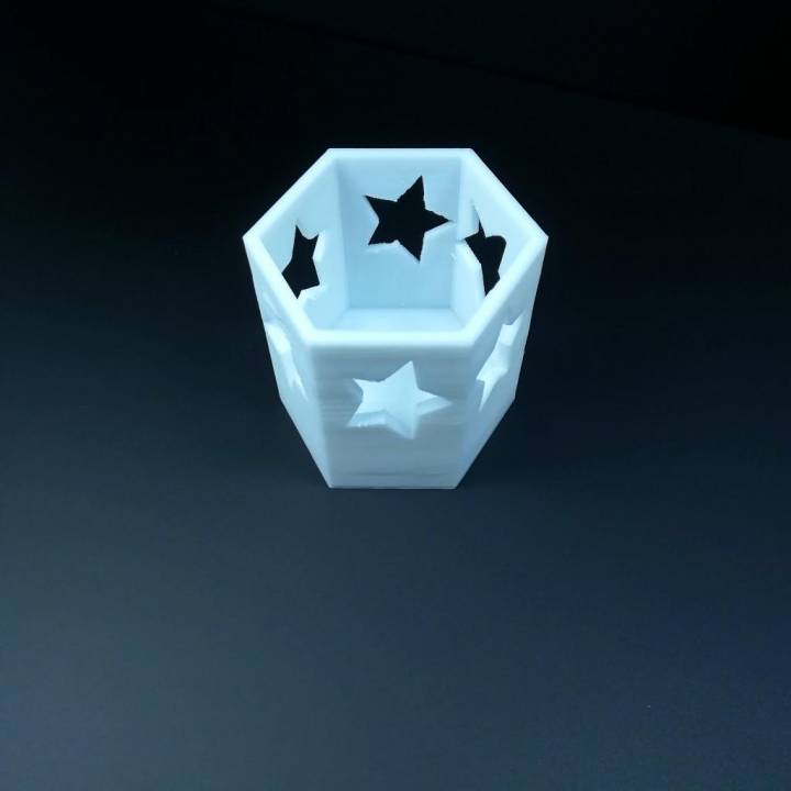 Star Pattern Candle Holder