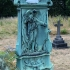 Tombstone with an angel image