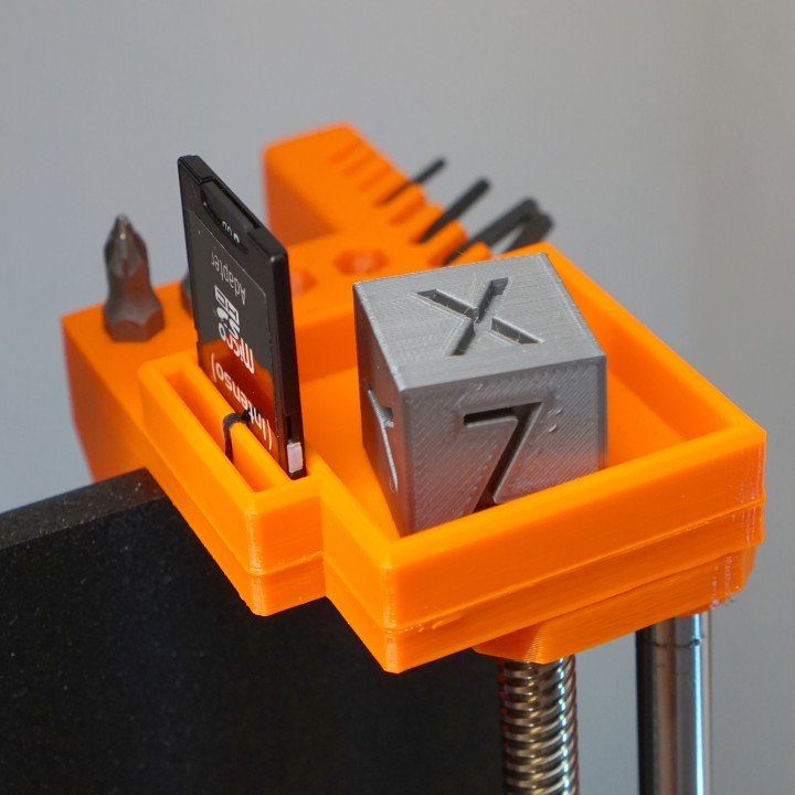 photo about Prusa Printable Parts titled 3D Printable Reduced applications/components holder for Prusa i3 Mk3 by means of