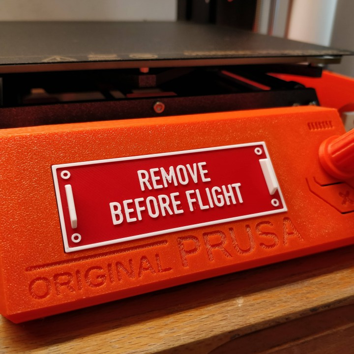 Prusa i3 Mk3 LCD Cover - REMOVE BEFORE FLIGHT