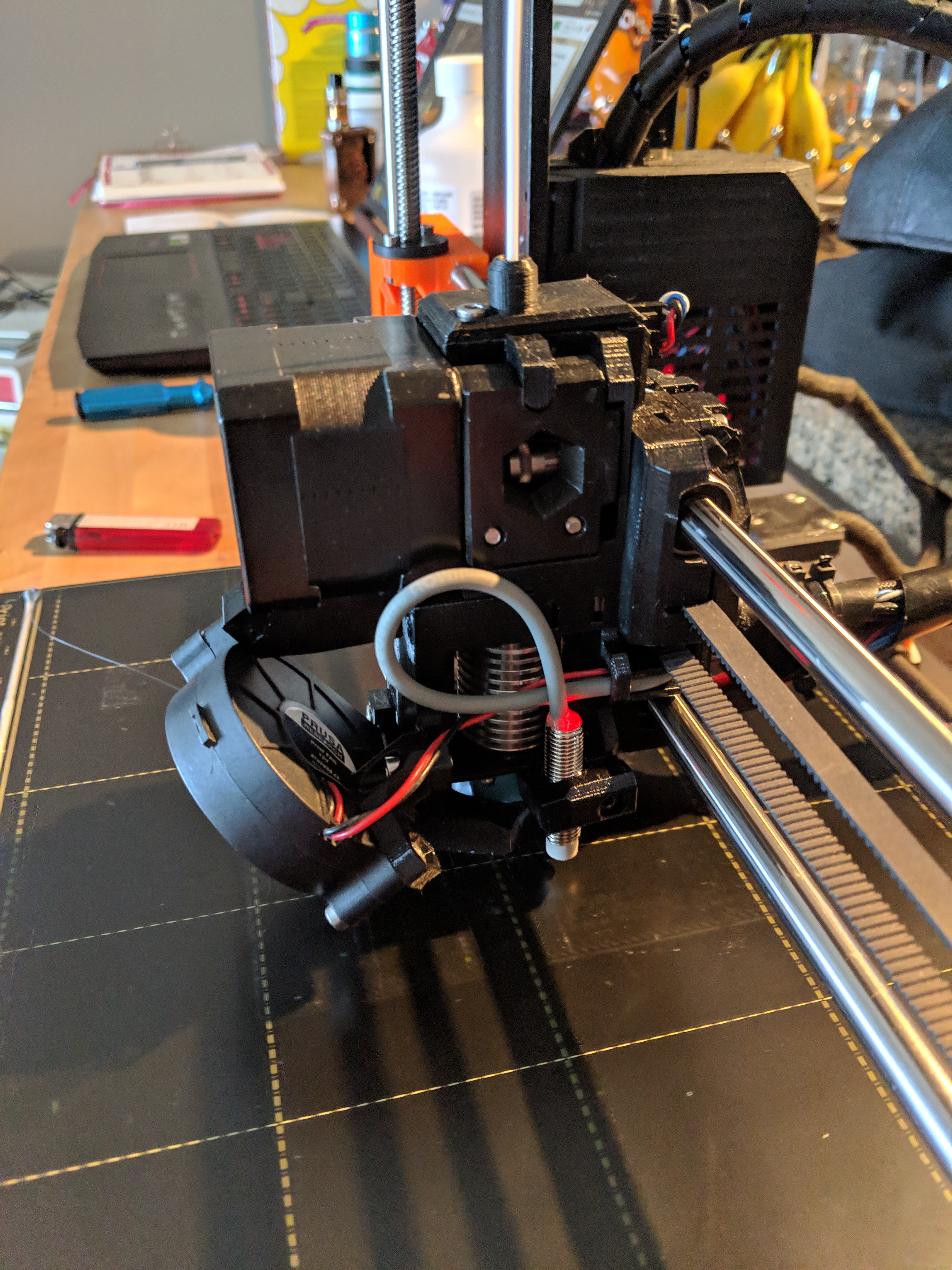 3D Printable Prusa i3 Mk2 5-Mk3 Extruder, Body and Cover R3 rework