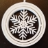 Triple Ring Snowflake Ornament image