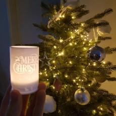 Merry Christmas tealight holder